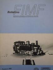 Bollettino treni FIMF n°193 Locomotiva 835 Rivarossi in scala H0 - [TR.33]