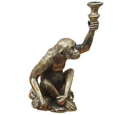 Vintage Ring Holder Brass Monkey Figurine Monkey Bronze Statuette Brass Statuette USSR Monkey Figure Retro Jewelry Holder Industrial Decor