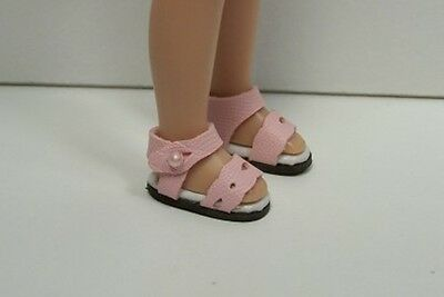 """LT GREEN Summer c Sandals Doll Shoes For Tiny 8/"""" Ann Estelle Betsy McCall Debs"""
