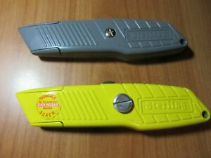 1-x-Yellow-amp-1-x-Grey-STERLING-UTILITY-CUTTER-thumb-lock-blade-heavy-duty