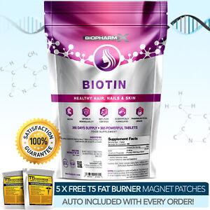 Biotina-piu-Forte-Legale-365-MG-X-10-000MCG-migliorare-Capelli-Pelle-amp-Unghie