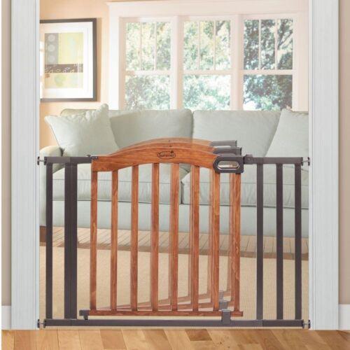 Baby Gate Pressure Mounted Multi-purpose Wood Metal Child Safety Swinging Door