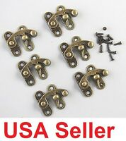 50x Lot Swing Hook Clasp For Leather Craft Bag Wood Crafting Case Box With Screw