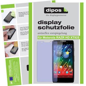2x-Motorola-RAZR-HD-Schutzfolie-matt-Displayschutzfolie-Antireflex-Displayfolie