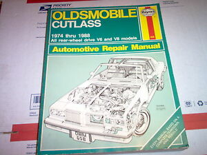 Haynes Repair Manual 74-88 Oldsmobile Cutlass with Wiring ...