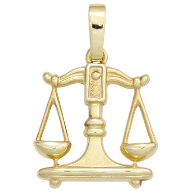 Pendentif Signe Du Zodiaque Balance (333) 8 Carat or Jaune