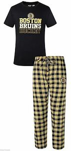 Boston Bruins Preschool Long Sleeve T-Shirt /& Pants Sleep Set
