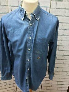 Camisa-Tommy-Hilfiger-Para-Hombre-Azul-Denim-Talla-M