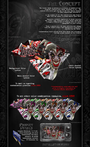 """TRAXXAS X-MAXX GRAPHICS WRAP DECALS /""""LUCKY/"""" RED EDITION FITS OEM BODY PARTS"""
