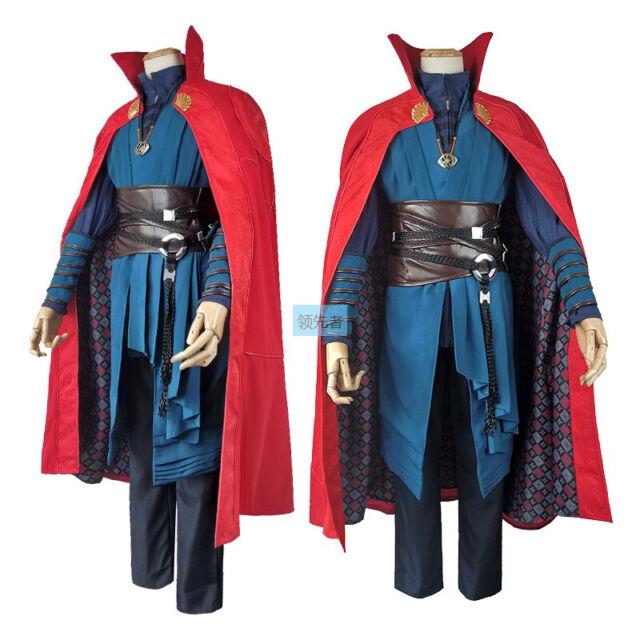 Doctor Strange 2016 Dr Stephen Strange Halloween Cosplay Costume mens