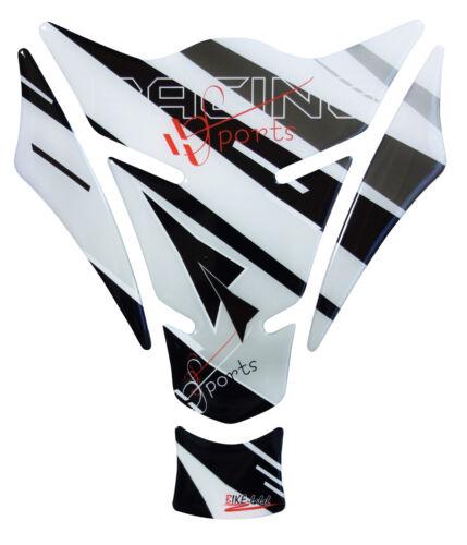 Revêtement de réservoir 3d Racing Sports Grey 501711 convient pour Kawasaki Yamaha Honda Suzuki