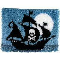 Wonderart Latch Hook Kit 15x20 - Pirate Ship, New, Free Shipping