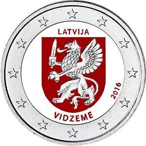 Lettland-2-Euro-Muenze-2016-bfr-Regionen-Serie-Vidzeme-Zentral-Livland-in-Farbe