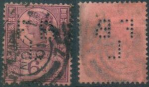 Gran Bretagna, MER. n. 94 timbrato, Regina Vittoria, 6 pence, Six PENCE