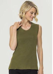 senza maniche in misook maglia Mood di Top Knit canotta Green tEqZHwS