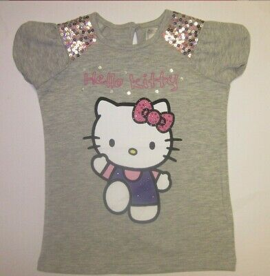Girls M /& S t shirt top Hello Kitty age 1.5 2 3 4 5 6 7 8 Tatty Teddy NEW