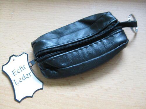 schwarz D Schlüsseltasche *Echt Leder* oval