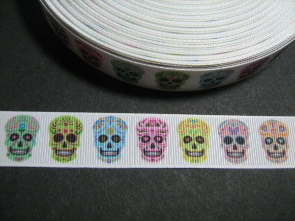 Tattoo//Los Muertos//Skul//Rose Grosgrain Ribbon 2.5cm x 1 Metre Sewing//Crafts//Cake