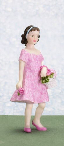 Maison de poupées Figure poly//résine fille nommée Ann échelle 1//12th