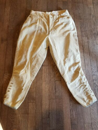 1920s corduroy jodhpurs, breeches with buttons 17.