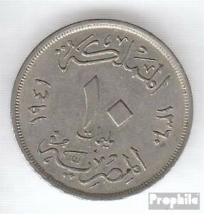 Egypt-KM-No-364-1941-VERY-NICE-COPPER-NICKEL-1941-10-Milliemes-Farouk