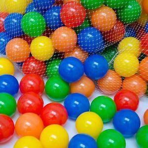 Balles de jeu en plastique pour enfants pour les jouets multicolores de château plein d'entrain de piscine de fosses à balles