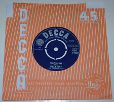 BILLY FURY & FOUR JAYS, THAT'S LOVE*YOU DON'T KNOW, 1960 DECCA 11237, POPCORN EX