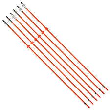 "6X Bow Fishing Arrows 32"" Fiberglass Shaft Fish broadhead & Safe Slide Hunting"