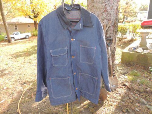 Vintage Blanket Lined Denim Chore Coat Jacket Men'