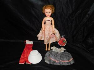 Vintage-1940s-Fashion-Doll-2OHH-Sleepy-Eyes-18-034-Tall-Hard-Plastic-With-Clothes