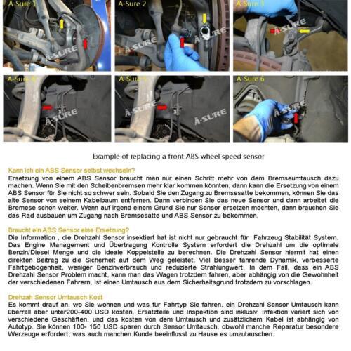 ABS Sensor hinten links oder rechts Drehzahlfühler VW Polo 6N1 6N2 6NF 6KV2 6KV5