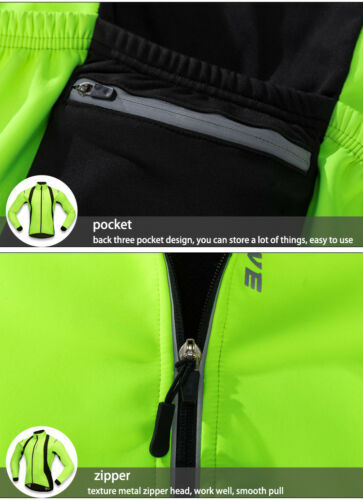 Winter Cycling Jacket Windstopper Thermal Fleece Warm Bike Jersey Bicycle Coat