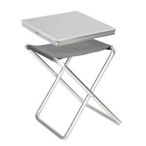 Camping klappstuhl mit tisch  BO CAMP Alu Tisch-Platte für Klapp Hocker Falt Stuhl Angler Sitz ...