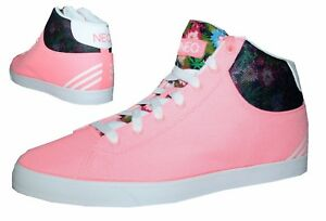Adidas-Neo-Daily-Mid-Damen-Sneaker-hohe-Schuhe-Hi-Top-Canvas-Rosa-Pink-Gr-40