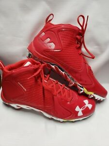 d8cc3d04495 Details about NEW Under Armour Men s Team Spine Fierce MC 14 Football  Cleats Red 1270491-601