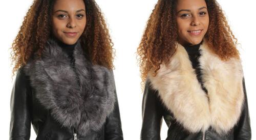 WOMENs Faux Accessories FUR STOLE SCARF BLACK BEIGE BURGUNDY KHAKI GREY WHITE