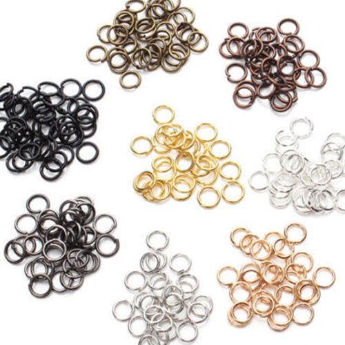 Lot 50-500Pcs Steel Loop Split Jump Rings Connectors Jewelry Finding 4-14mm