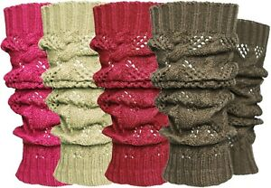 12-Pieces-Lot-Solid-Winter-Cable-Knit-Leg-Warmers