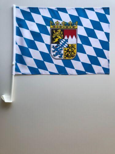 Auto Bandiera Auto Bandiera Baviera 30x45 cm con piccolo stemma