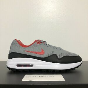 Men S Nike Air Max 1 G Golf Shoes Grey Red Black Size 9 Ci7576 002 New Ebay