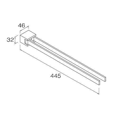 DIETSCHE Handtuchhalter NEW YORK 42 cm 2-armig schwenkbar schwenkbar schwenkbar für Bad   Küche chrom 848bec
