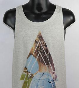Eleven-Paris-Camiseta-de-tirantes-losangelesdeb-M-14s1lt133-Gris-Unisex-NUEVO
