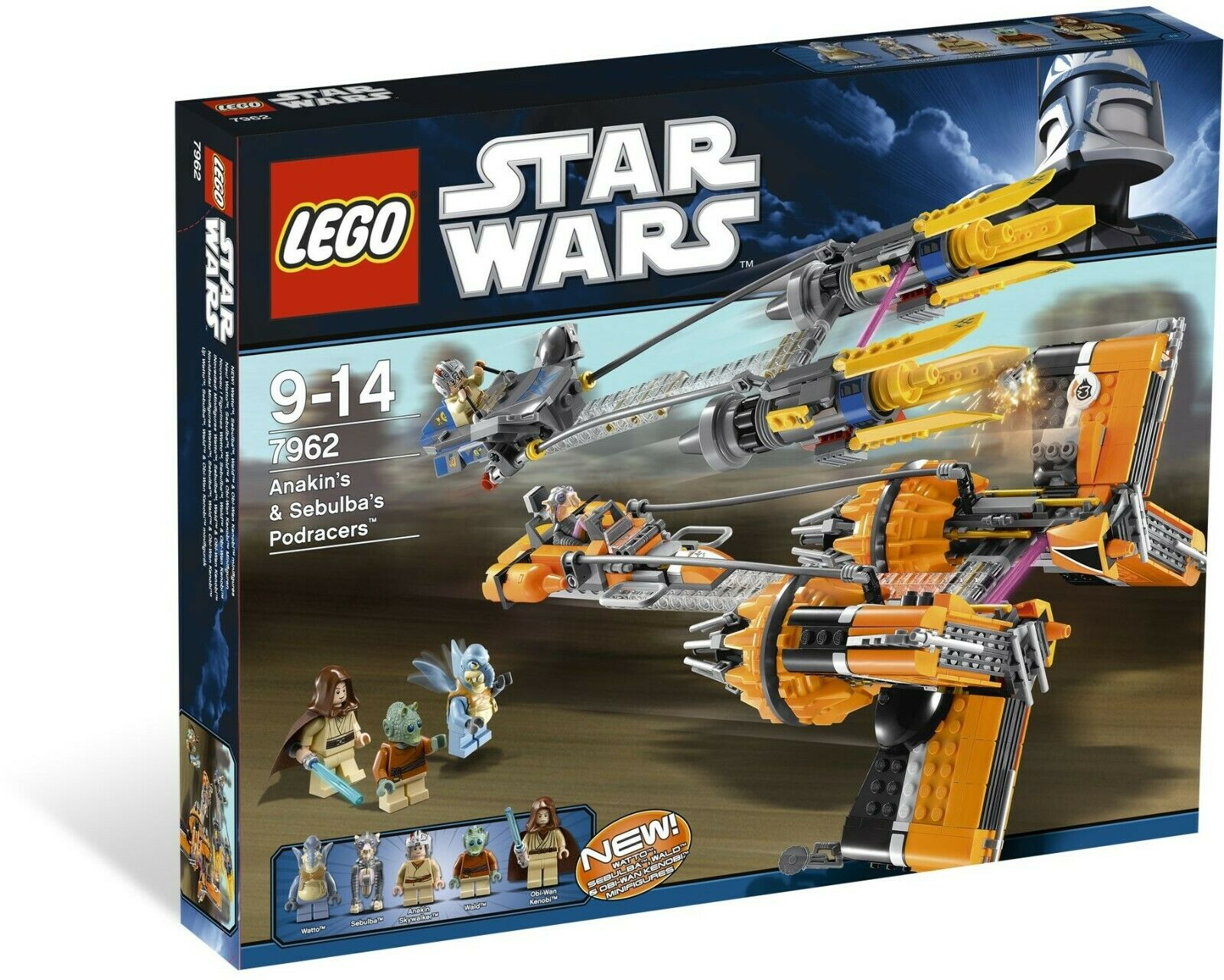 Lego Estrella Wars 7962 Anakin Skywalker Y Sebulba's Podracers -  totalmente Nuevo  Sellado