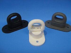 50 x Drehverschluss Kunststoff schwarz für Ovalöse 42 x 22 mm Drehverschlüsse
