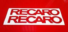 Recaro Sticker 4 x 200mm Stickers Decals Racing Car Motorbike Rally Sponsors