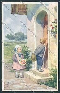 Feiertag-children-postcard-B5475-SZG