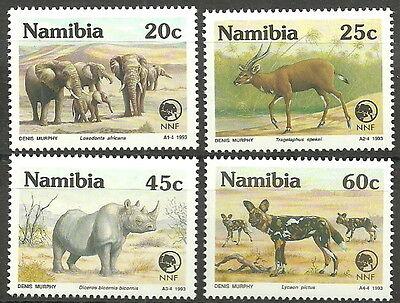 Verantwortlich Namibia - Nature Foundation Tiere Satz Postfrisch 1993 Mi. 735-738 Die Nieren NäHren Und Rheuma Lindern
