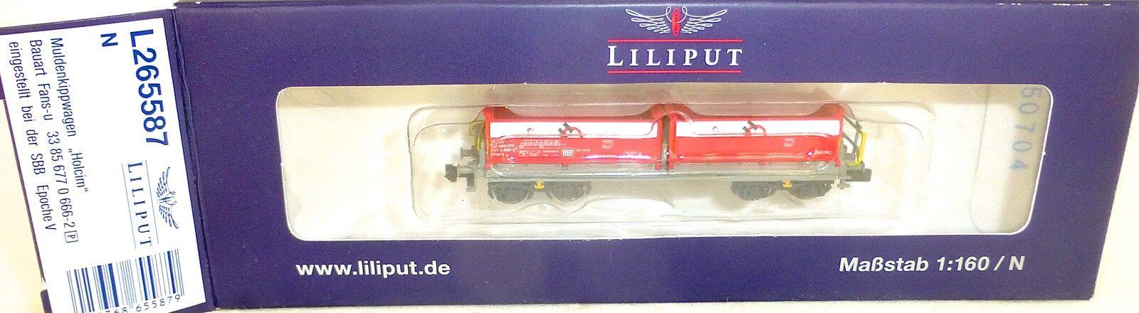SBB tifosi U pozzetti Kipp carrello schüttwagen EPV Liliput l265587 NUOVO 1:160 N hs2 Å *