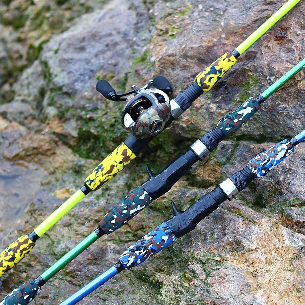 Carbon Fiber Telescopic Fishing Rod Hand Pole Spinning Casting Ultralight Rod US