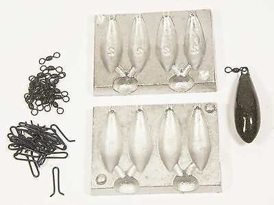Distance 4 in 1 Lead Weight Swivels & Loops Mould Carp Course Fishing 2oz 3oz